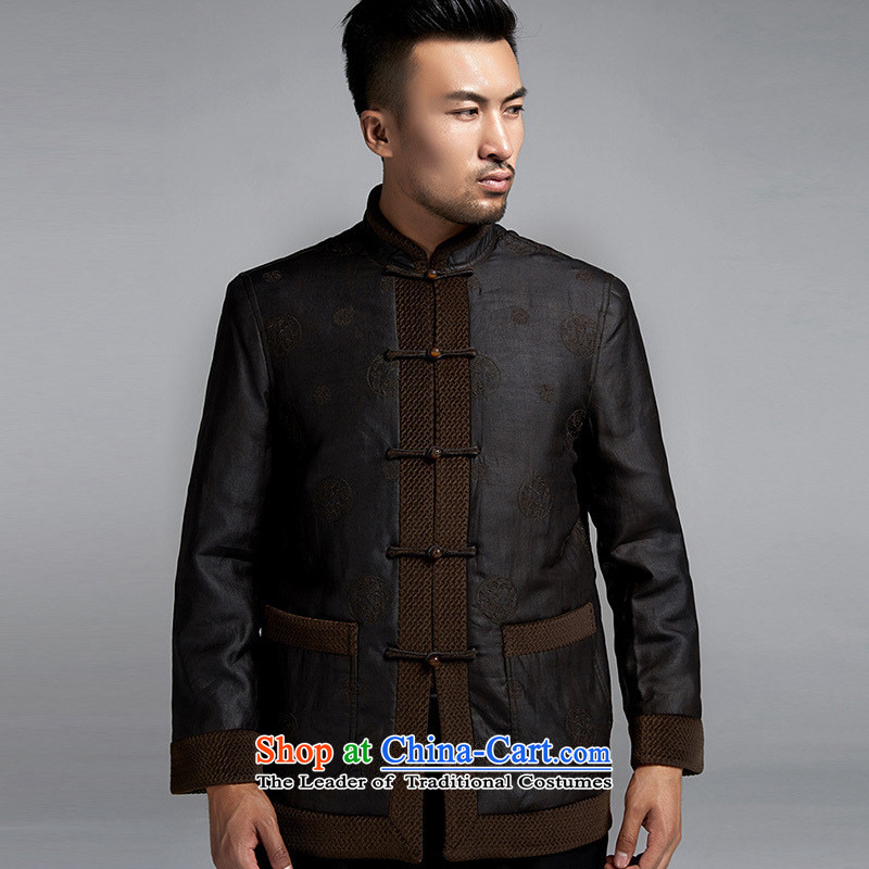 Fudo de Man Days drunken upscale Tang dynasty long-sleeved jacket for autumn and winter 2015 China wind older silk robe thick black jacket,聽46/L, de fudo shopping on the Internet has been pressed.