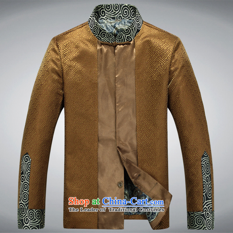 Rollet HIV from older Tang Dynasty Chinese robe men men long-sleeved shirt and Tang dynasty 茫镁貌芒 gold聽XXXL, HIV ROLLET (AICAROLINA) , , , shopping on the Internet