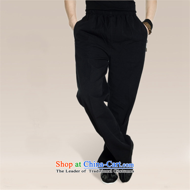 Fudo return to innocence de聽2015 Cotton muslin spring and autumn Tang dynasty elastic casual pants Chinese trousers dual side pockets pristine China wind men black聽XXXL picture, prices, brand platters! The elections are supplied in the national character of distribution, so action, buy now enjoy more preferential! As soon as possible.