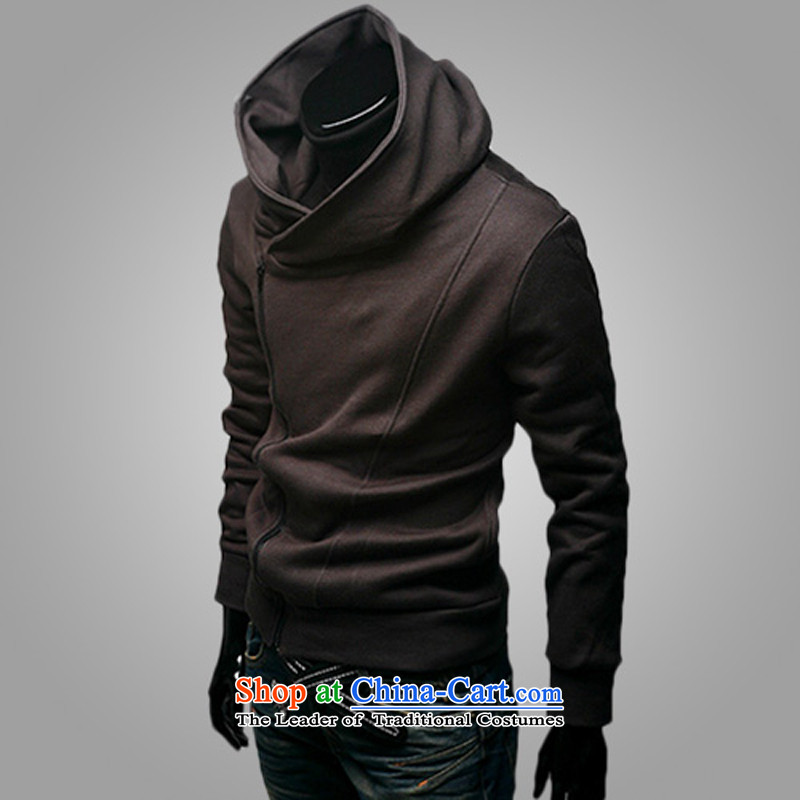 The first male jacket extreme spring and autumn 2015 Leisure thin boys juvenile male sweater Sau San with cap Korean students jacket clothes W02 coffee?L