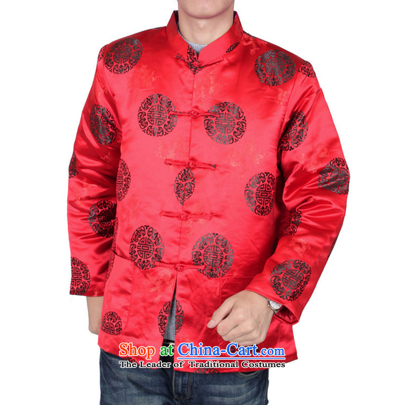 The Cave of the elderly men fall/winter Tang dynasty China wind men attired in Tang jackets older birthday gift clothing father spring 31 black cotton plus 170 yards, the Cave of the elderly聽has been pressed shopping on the Internet