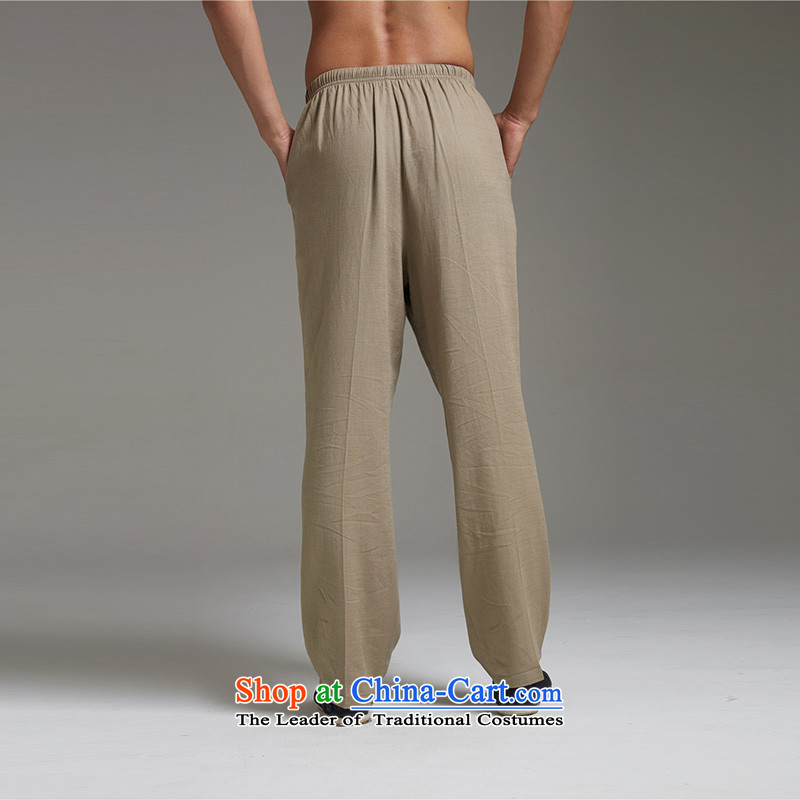 De Fudo Tobita, Master of Winds in cotton linen pants Tang older men light summer 2015) Elastic waist XL China wind the green聽, L'Fudo shopping on the Internet has been pressed.