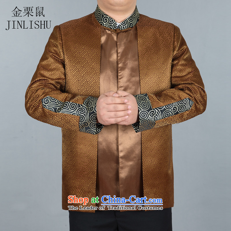 Kanaguri mouse in Tang Dynasty Older long-sleeve sweater with spring and autumn New Men Tang blouses Tang Dynasty Chinese men's jackets and Ho Gold聽190