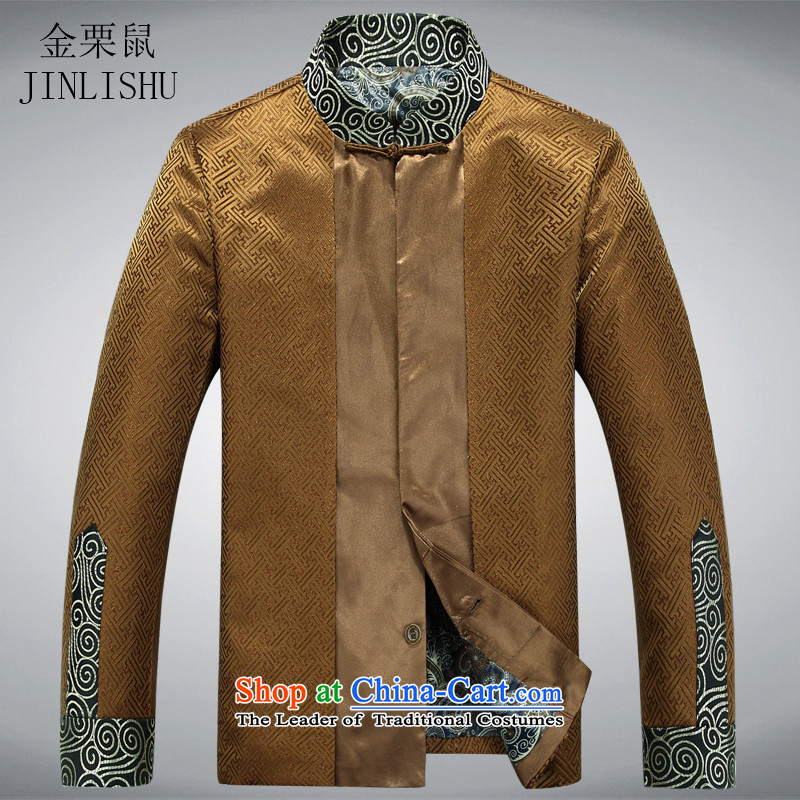 Kanaguri mouse in Tang Dynasty Older long-sleeve sweater with spring and autumn New Men Tang blouses Tang Dynasty Chinese men's jackets and golden聽190, Ho kanaguri mouse (JINLISHU) , , , shopping on the Internet