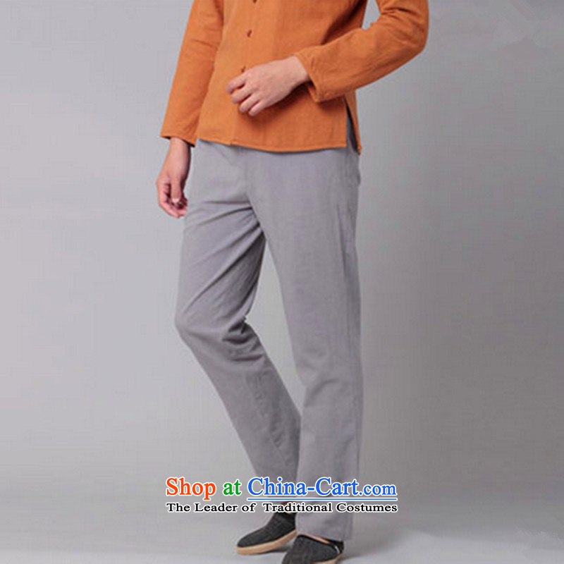 Hee-Snapshot Dragon Chinese Wind Pants and leisure cotton linen trousers with a straight Chinese men casual trousers , white-hee (XZAOLONG snapshot lung) , , , shopping on the Internet