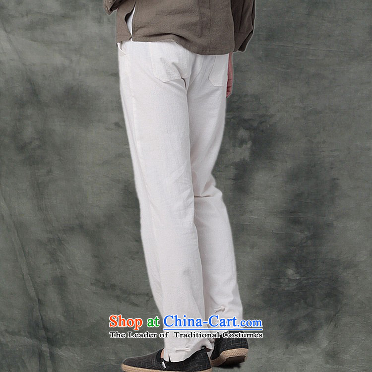 Hee-Snapshot Dragon cotton linen MEN CASUAL TROUSERS with a Chinese Kung Fu pants and leisure recreation loose Tang men White M picture, prices, brand platters! The elections are supplied in the national character of distribution, so action, buy now enjoy more preferential! As soon as possible.
