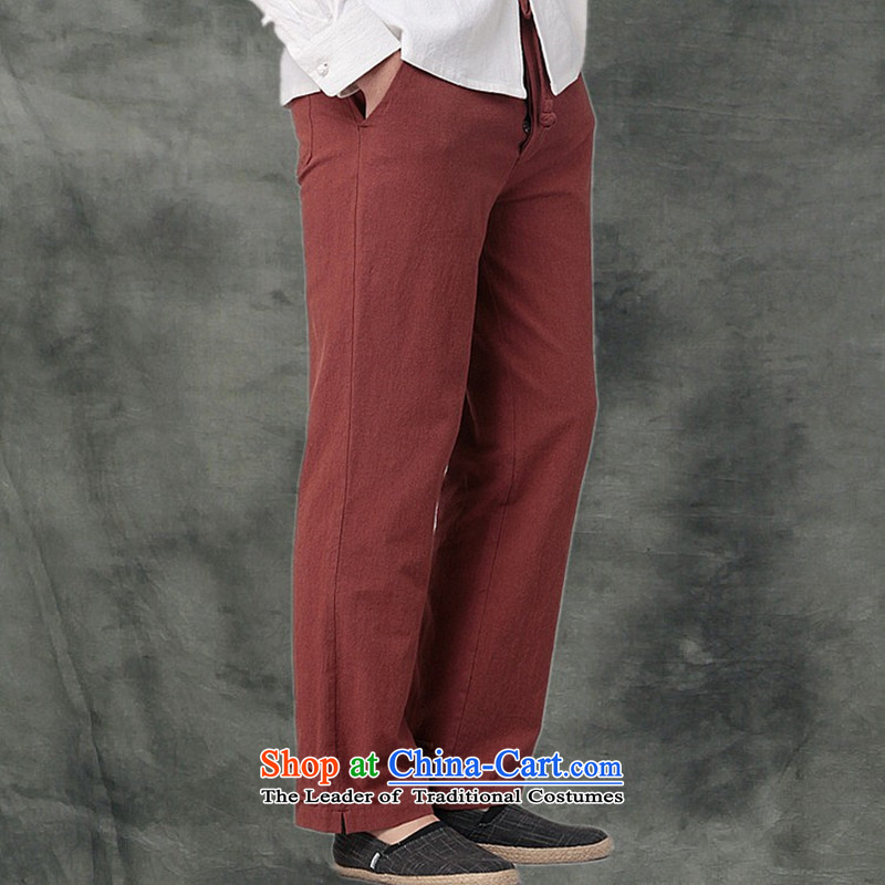 Hee-Snapshot Dragon cotton linen MEN CASUAL TROUSERS with a Chinese Kung Fu pants and leisure recreation loose Tang men White M-hee (XZAOLONG snapshot lung) , , , shopping on the Internet