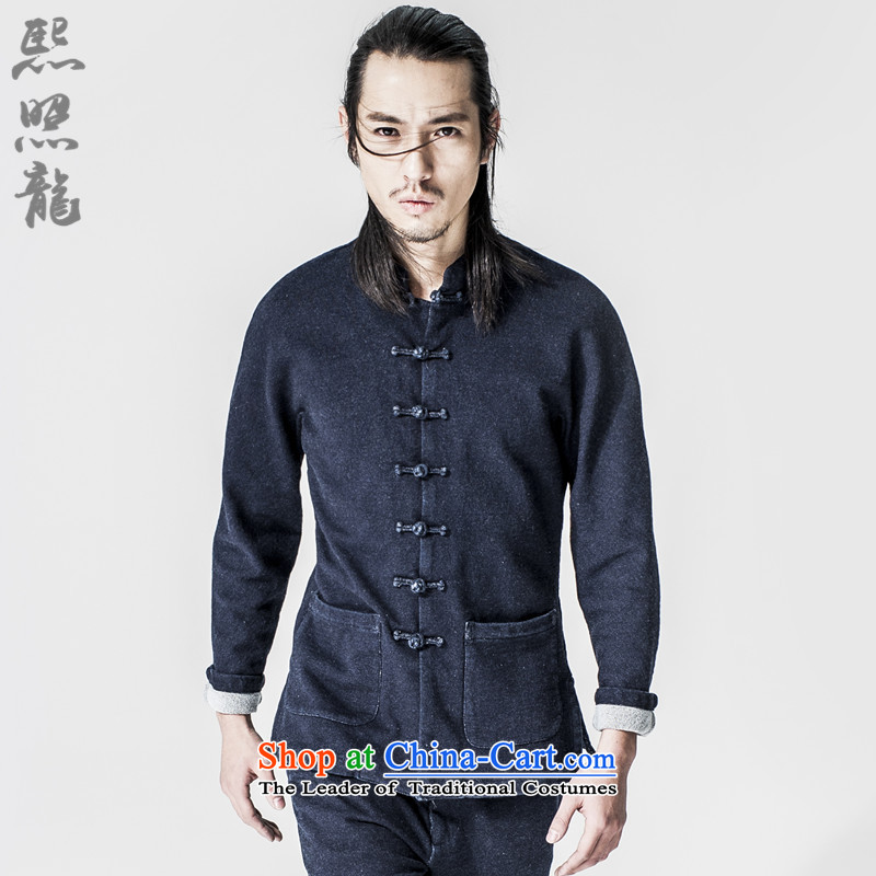Hee-Snapshot Lung China wind 2015 new thick cowboy use stylish blue jeans TANG Sau San Jacket coat blue�XL
