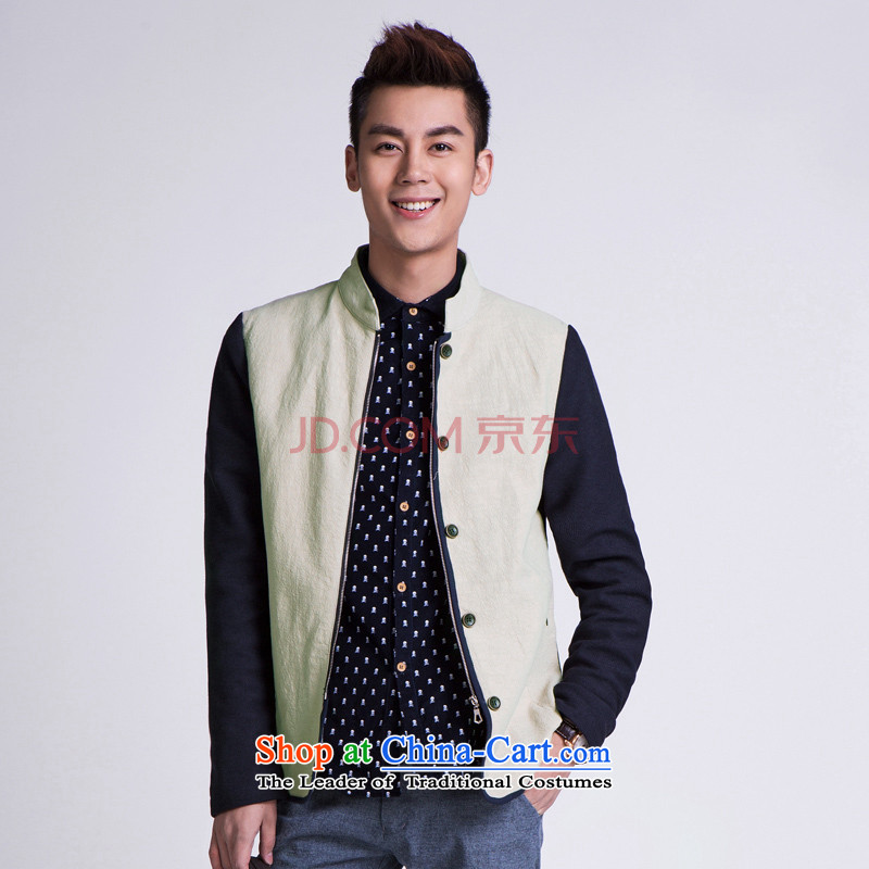 ? WOLFLAG Health 2015 spring of leisure as Korean fashion Sau San collar jacket Tang Jacket Card its�XL(175) AB-5320H_ male