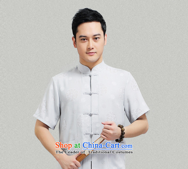 - Wolf JIEYA-WOLF, New Package Tang dynasty men's short-sleeved advanced thin cotton linen round dragon summer pure color, China wind men loading聽190/XXXL yellow picture, prices, brand platters! The elections are supplied in the national character of distribution, so action, buy now enjoy more preferential! As soon as possible.