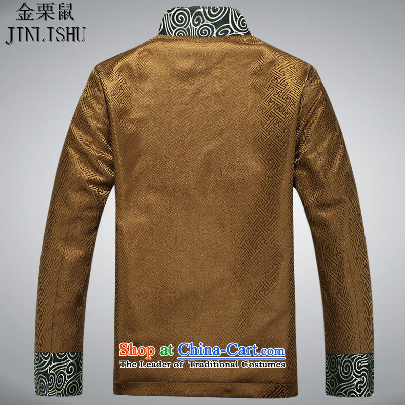 Kanaguri mouse in Tang Dynasty older men new Tang blouses China wind national service gold聽XXL, kanaguri mouse (JINLISHU) , , , shopping on the Internet