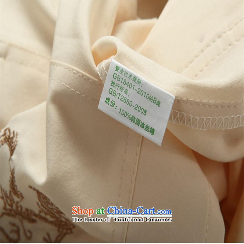 The Mai-Mai multiple cells聽  in 2015 Tang dynasty older men and short-sleeved shirt older older persons for summer load grandpa men father blouses beige Kit聽185, Mai-Mai YIRENDUOGE (Multi-bin) , , , shopping on the Internet