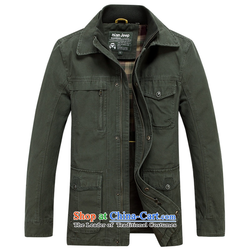 The new 2015 Shield Roma men washable in long outdoor leisure Mock-neck�D6805�Army Green�XXXL Jacket