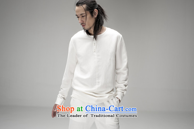 Hee-snapshot lung original innovative Chinese long-sleeved Pullover no neck shirt men loose ramie blended thin black shirt drape聽XL Photo, prices, brand platters! The elections are supplied in the national character of distribution, so action, buy now enjoy more preferential! As soon as possible.