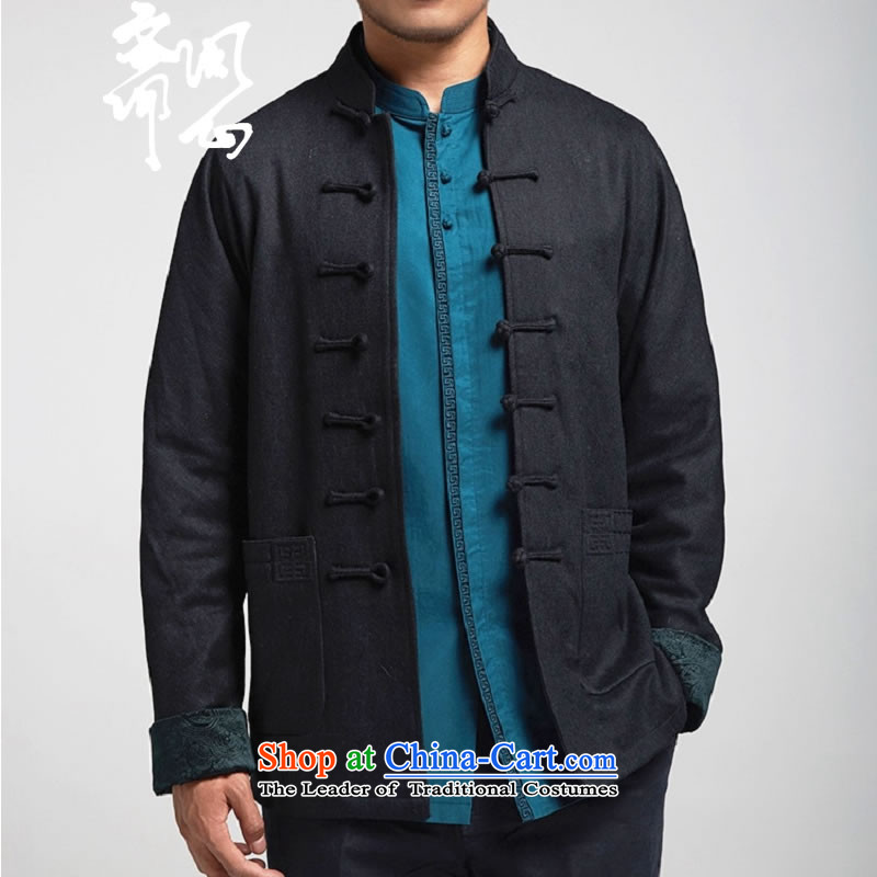 Q Shinsaibashi represented a health _autumn and winter men new products Sau San Chinese jacket improvement with shouldered design Tang 1149 Black聽M 160_84