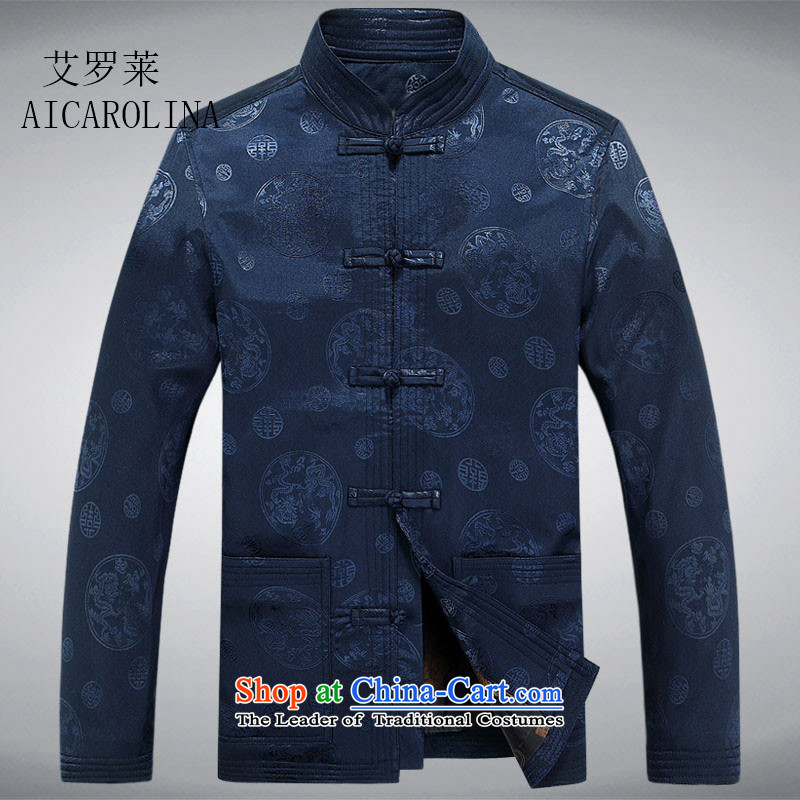 Hiv Rollet Spring New Elderly jacket elderly auspicious Tang jacket jacket blue聽XXL