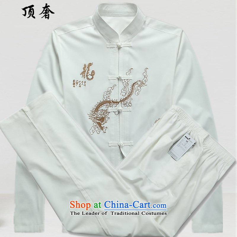Top Luxury Tang dynasty, male long-sleeved thin men's jackets�15 new hands-free hot half-sleeved shirt Tang dynasty blue long-sleeved Men's Mock-Neck Tang dynasty male white short sleeve kit long-sleeved燬_165