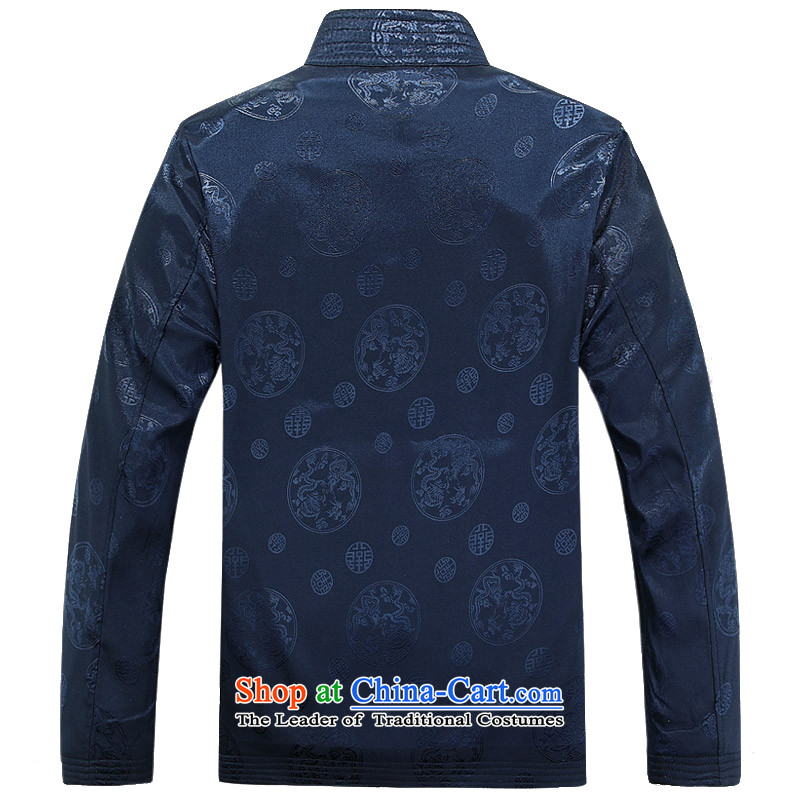 Bosnia and 15 new spring and autumn thre in older men long-sleeved jacket jacket Chinese Tang collar round Dragon Loaded male shirt F8025 Tang聽XL/180, espresso and thre line (gesaxing) , , , shopping on the Internet