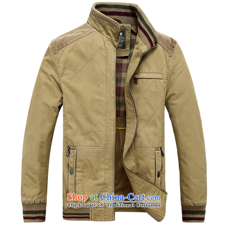 Jeep Shield 2015 men's new outdoor comfortable washable minimalist jacket D6802 KHAKI M