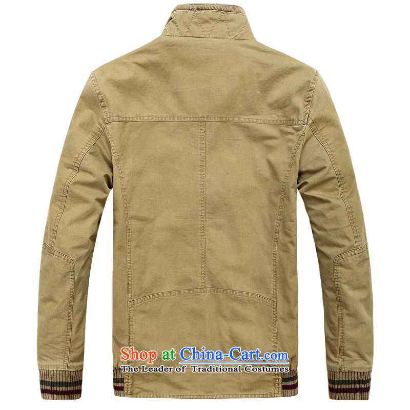 Jeep Shield 2015 men's new outdoor comfortable washable minimalist jacket D6802 KHAKI M jeep shield shopping on the Internet has been pressed.