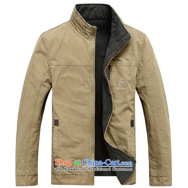 Jeep shield NIAN JEEP New Men pure cotton washed outdoor double-sided wear casual jacket coat 2015 Autumn D6808 male-�M