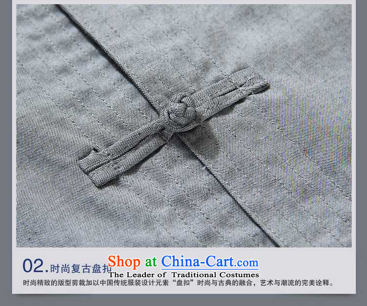 The new ocean handsome men Tang dynasty short-sleeved cotton China wind men's shirts collar disc detained men summer Chinese shirt Ma Tei聽39/165 Gray Photo, prices, brand platters! The elections are supplied in the national character of distribution, so action, buy now enjoy more preferential! As soon as possible.