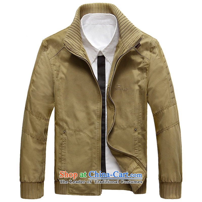 聽 2015 Autumn, Shield Jeep Men's Mock-Neck smart casual jacket聽D9762 short聽-聽M