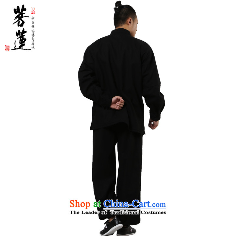 On the Lotus Flex-cotton thick plus lint-free warm autumn and winter, tai chi services practice of men and women at the retreat at the room service martial arts Black聽XL, pursue Wu , , , shopping on the Internet