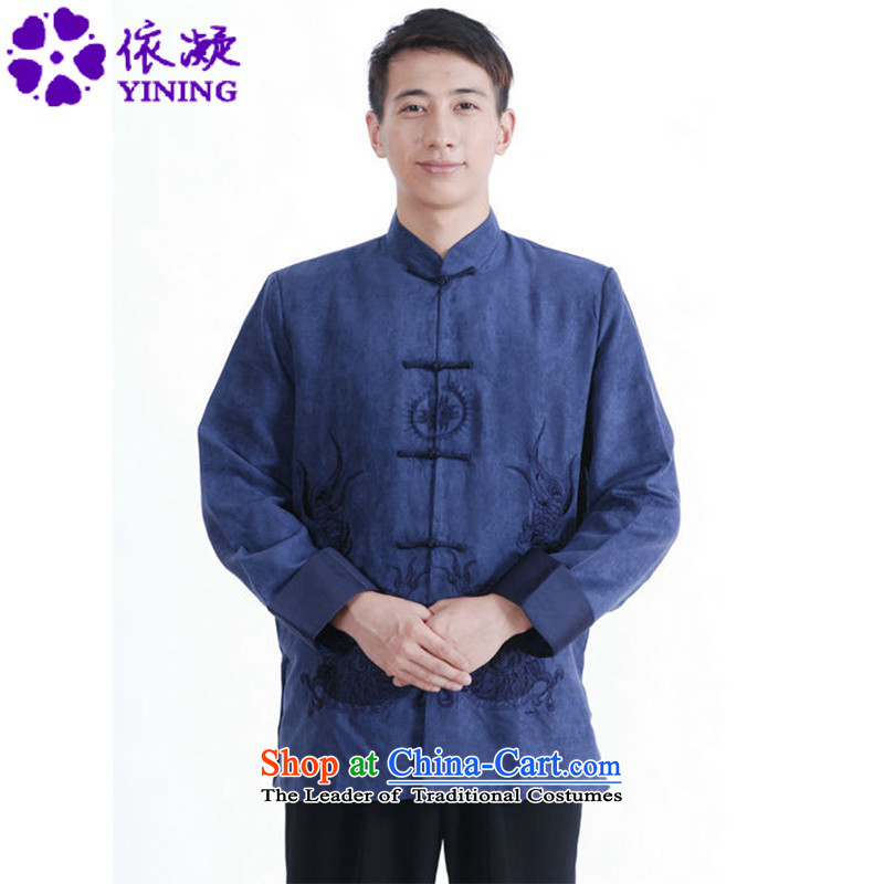 In accordance with the new spring and autumn gel men Tang dynasty retro sheikhs wind Ssangyong embroidered with Father Tang jackets?LGD/M1150#?to Tsing?M