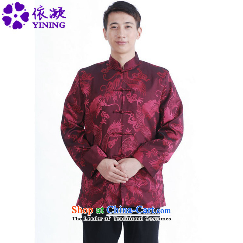 In accordance with the Fuser Spring New Men's Mock-Neck Chinese clothing straight Stretches the classic tray clip loaded father Tang jackets?LGD/M1141#?figure?M