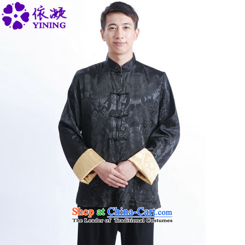 In accordance with the new fuser men retro sheikhs wind Tang dynasty cheongsam collar jacquard duplex through his father with tang jackets聽LGD_M1040_聽figure聽L