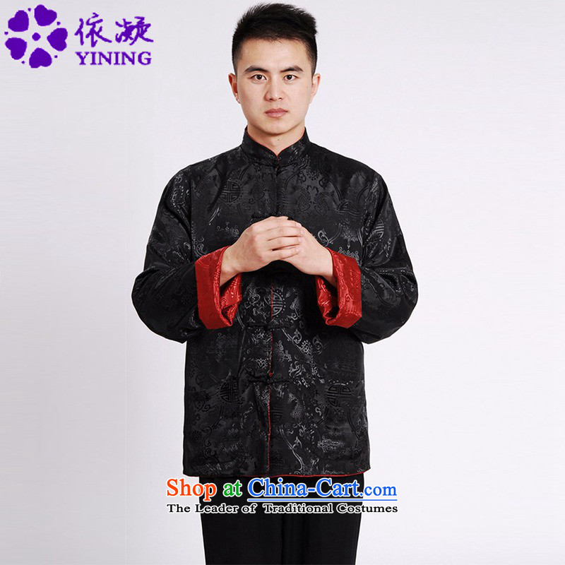 In accordance with the new spring and autumn gel men daily improved Tang Gown cheongsam collar jacquard duplex through his father with Tang Dynasty Long-sleeve�LGD/M1045#�figure�XL