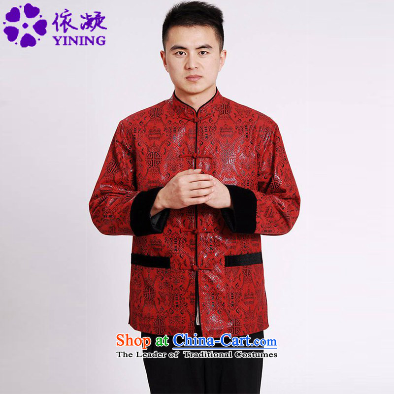 In accordance with the new spring and autumn in the fuser older men daily improved Tang dynasty Mock-neck retro-fit dad stitching detained long-sleeved Tang dynasty?LGD/M0040#?figure?XXL