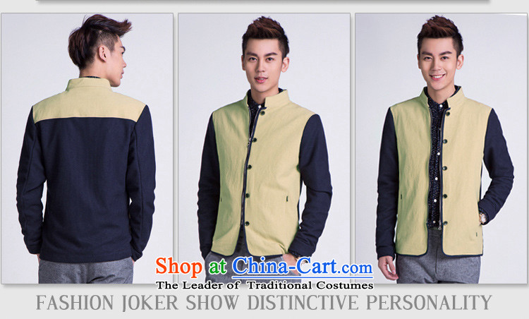 【 WOLFLAG Health 2015 spring of leisure as Korean fashion Sau San collar jacket Tang Jacket CardM(165) AB-5320H+_ men and their pictures, prices, brand platters! The elections are supplied in the national character of distribution, so action, buy now enjoy more preferential! As soon as possible.