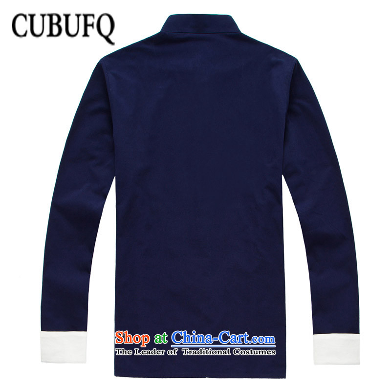 Pure Cotton Double Chinese cubufq Tang replacing men disc Tang dynasty China wind detained men long-sleeved sweater spring and ball-han-dark blue 180/42,cubufq,,, Services Online Shopping