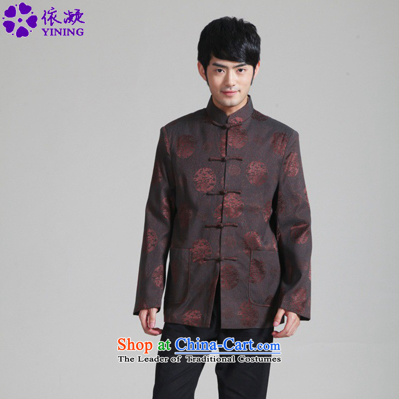 In accordance with the stylish new fuser spring and autumn sheikhs wind daily improved Tang dynasty qipao gown dad collar straight boxed long-sleeved blouses jacket聽WNS_2285_ Tang -1_ 3XL