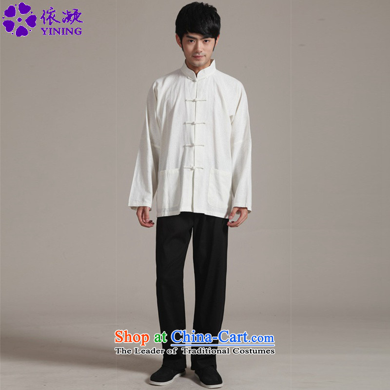 In accordance with the new fuser men of nostalgia for the improvement of the Tang dynasty wind-long-sleeved shirt + casual pants Tang Dynasty Package Kung Fu Tang dynasty�WNS/2352�-3# Kit L