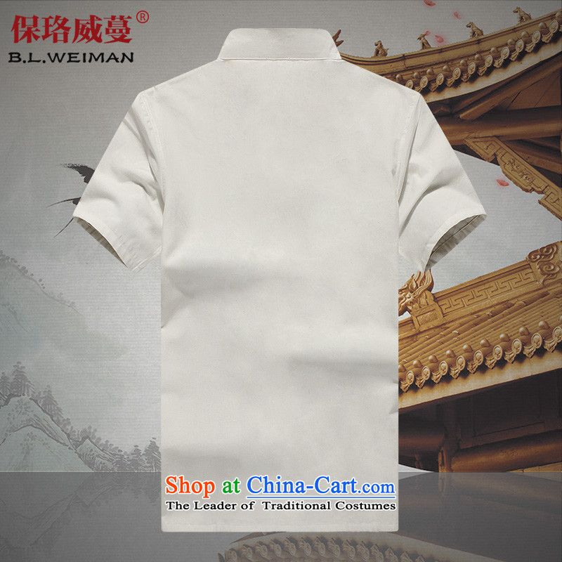 The Lhoba nationality Wei Mephidross warranty pure cotton muslin old China wind men loaded short-sleeved shirt Tang Tang service men and summer father lining clothes black 165, Warranty, Judy Wai (B.L.WEIMAN Overgrown Tomb) , , , shopping on the Internet