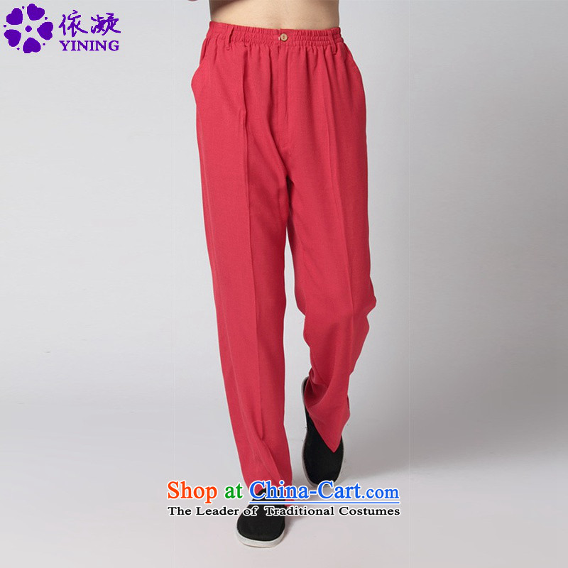 In accordance with the stylish new fuser men of nostalgia for the improvement of solid color casual pants Taegeuk service Tang?WNS/2350# pants pants?-12# 2XL