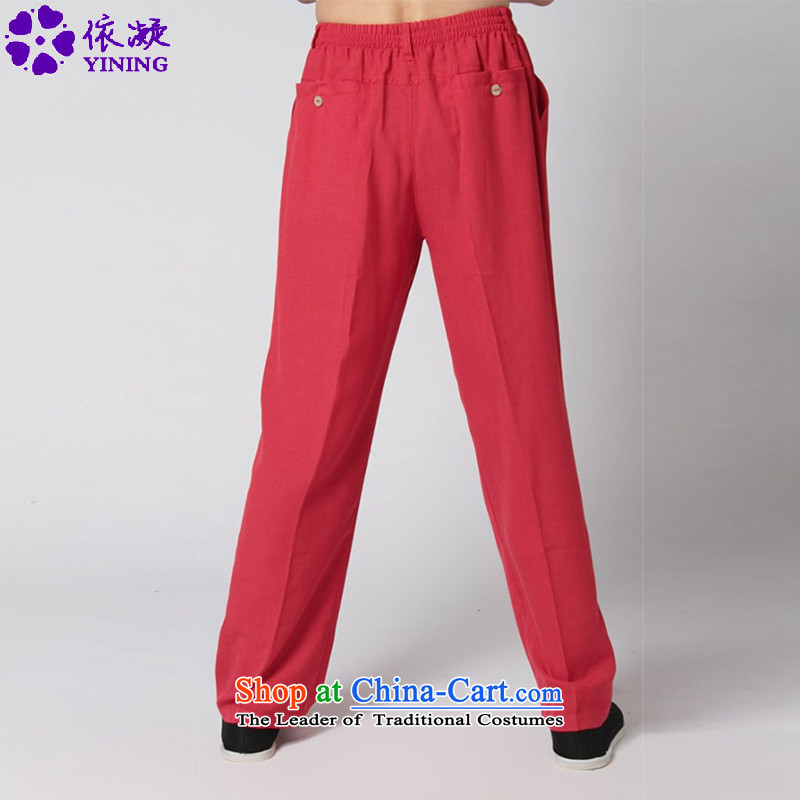 In accordance with the stylish new fuser men of nostalgia for the improvement of solid color casual pants Taegeuk service Tang WNS/2350# -12# pants 2XL, pants in accordance with the fuser has been pressed shopping on the Internet