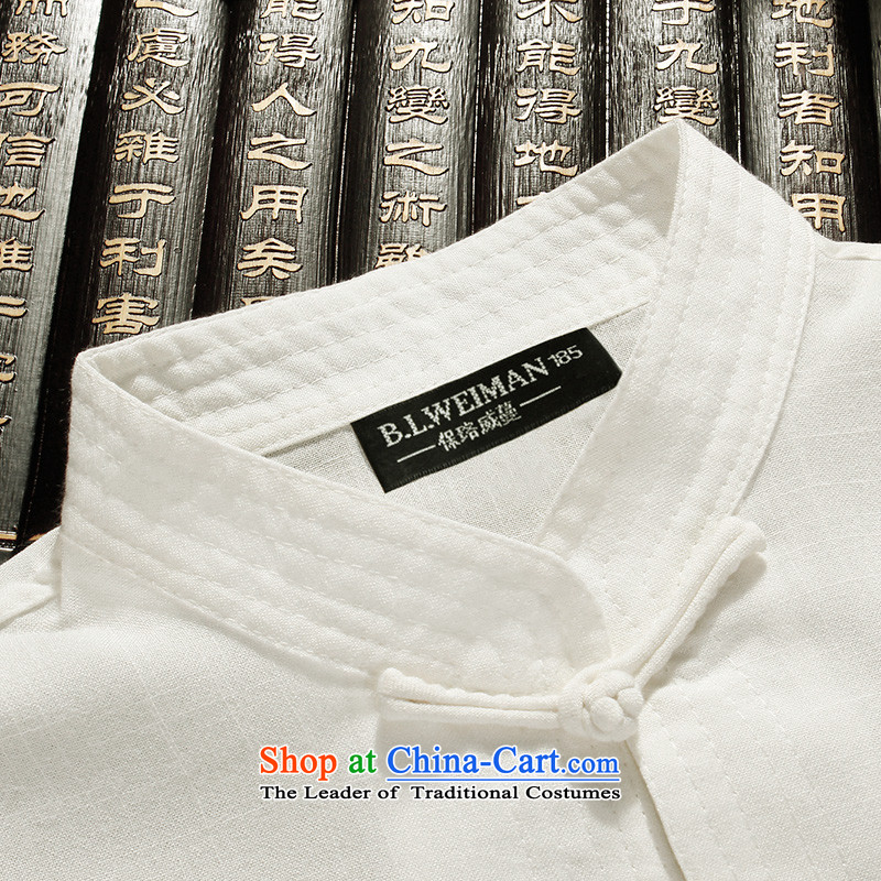 The Lhoba nationality Wei Mephidross Warranty Tang dynasty male short-sleeved summer Tang dynasty men of older persons and Tang dynasty China wind shirt men married white聽175 warranty of the Lhoba nationality Wei Overgrown Tomb (B.L.WEIMAN) , , , shopping