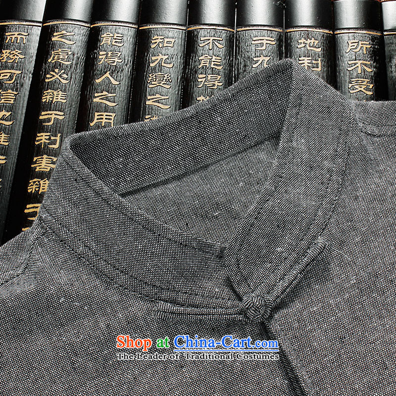 The Lhoba nationality Wei Overgrown Tomb summer warranty China wind linen short-sleeved Tang dynasty male and comfort and breathability cotton linen clothes men and sweat-wicking summer gray聽180, Warranty, Judy Wai (B.L.WEIMAN Overgrown Tomb) , , , shoppi