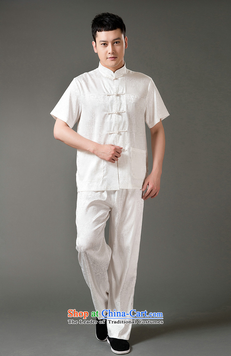 Boris poem federation short-sleeved Tang Dynasty Package for men and elderly men Tang dynasty 2015 Summer) Emulation silk Tang hand-held national costumes Chinese Tang dynasty collar beige XXXXL/190 picture, prices, brand platters! The elections are supplied in the national character of distribution, so action, buy now enjoy more preferential! As soon as possible.