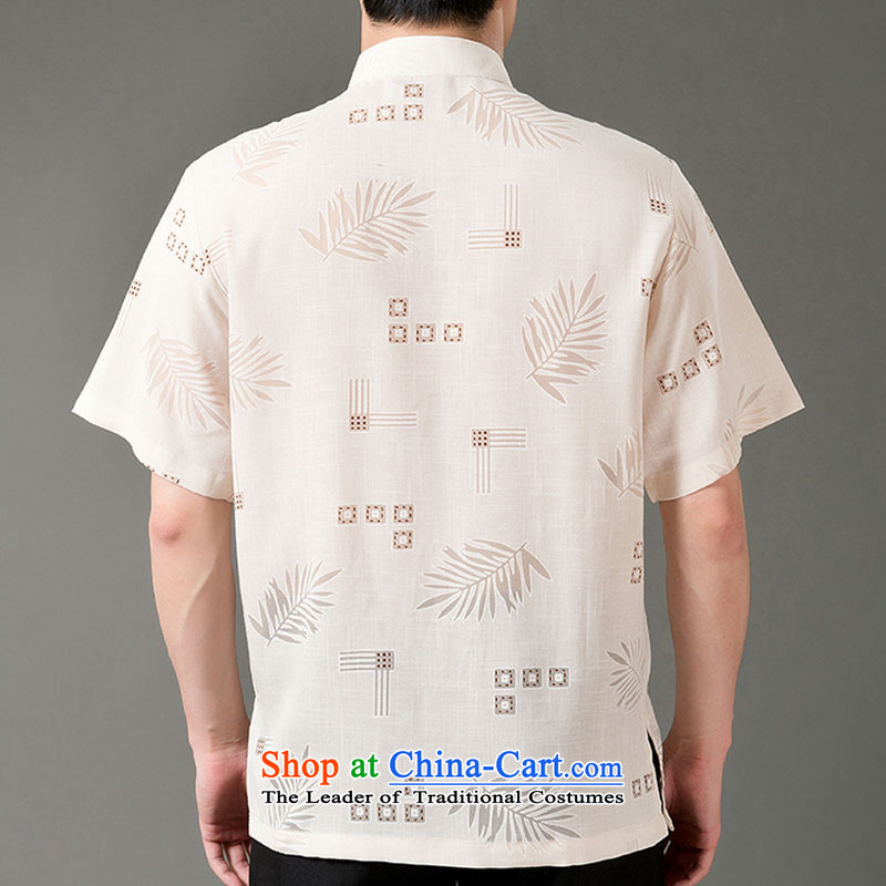 Boris poem federation short-sleeved Tang dynasty in Tang Dynasty elderly men聽by 2015 summer, emulation silk Tang blouses manually disc detained national costumes Chinese Tang dynasty white collar聽M/165, Federation Bao Shi (lianbangbos) , , , shopping on t