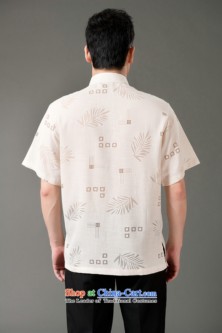 Boris poem federation short-sleeved Tang dynasty in Tang Dynasty elderly men by 2015 summer, emulation silk Tang blouses manually disc detained national costumes Chinese Tang dynasty white collar XXL/180 picture, prices, brand platters! The elections are supplied in the national character of distribution, so action, buy now enjoy more preferential! As soon as possible.