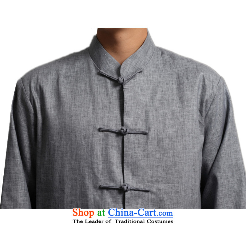 In accordance with the new fuser men retro sheikhs wind Tang dynasty collar ethnic Han-Tang Dynasty Chinese tunic聽WNS/2512# -2# costumes, L, in accordance with the fuser has been pressed shopping on the Internet