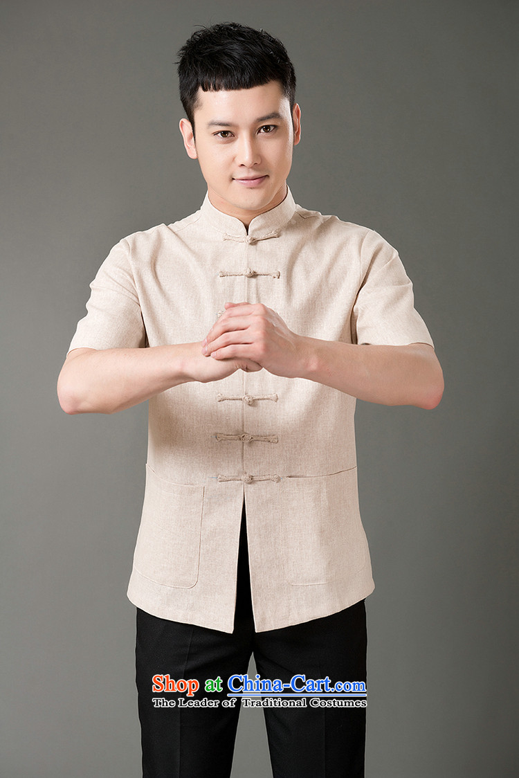 Boris poem federation short-sleeved Tang dynasty in older 7 tie Tang dynasty 2015 summer, cotton linen Tang blouses manually disc detained national costumes Chinese Tang dynasty collar M/165 Light Gray Photo, prices, brand platters! The elections are supplied in the national character of distribution, so action, buy now enjoy more preferential! As soon as possible.