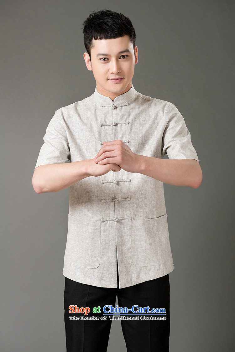 Boris poem federation short-sleeved Tang dynasty in older 7 tie Tang dynasty2015 summer, cotton linen Tang blouses manually disc detained national costumes Chinese Tang dynasty collarM/165 Light Gray Photo, prices, brand platters! The elections are supplied in the national character of distribution, so action, buy now enjoy more preferential! As soon as possible.