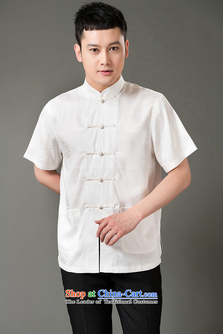 Boris poem federation short-sleeved Tang dynasty in Tang Dynasty elderly men by 2015 summer, emulation silk Tang blouses manually disc detained national costumes Chinese Tang dynasty white collar L/170 picture, prices, brand platters! The elections are supplied in the national character of distribution, so action, buy now enjoy more preferential! As soon as possible.