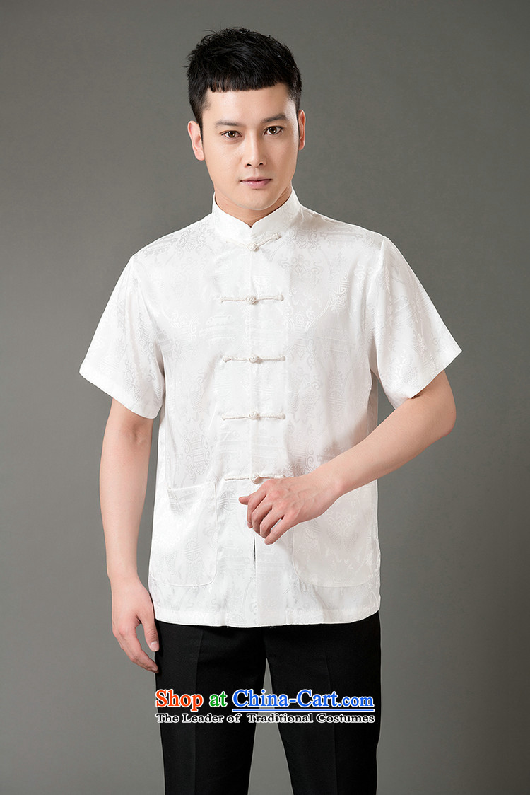 Boris poem federation short-sleeved Tang dynasty in Tang Dynasty elderly men by 2015 summer, emulation silk Tang blouses manually disc detained national costumes Chinese Tang dynasty collar beige M/165 picture, prices, brand platters! The elections are supplied in the national character of distribution, so action, buy now enjoy more preferential! As soon as possible.
